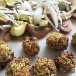 Albóndigas de tofu y brócoli