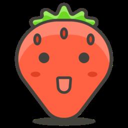 Icono fresa alimentación saludable